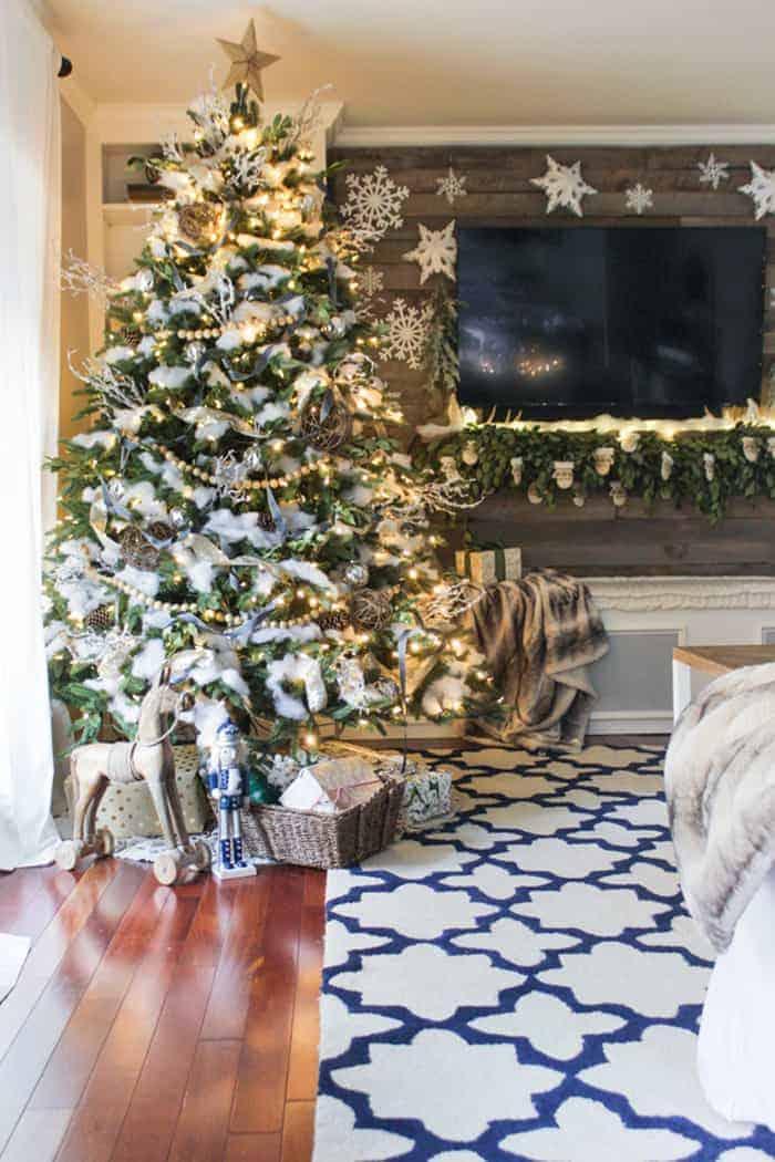 Rustic Christmas Tree   Shades of Blue Interiors