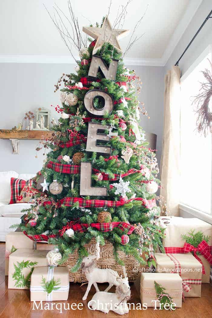 Rustic Woodland Christmas Tree   Craftaholics Anonymous