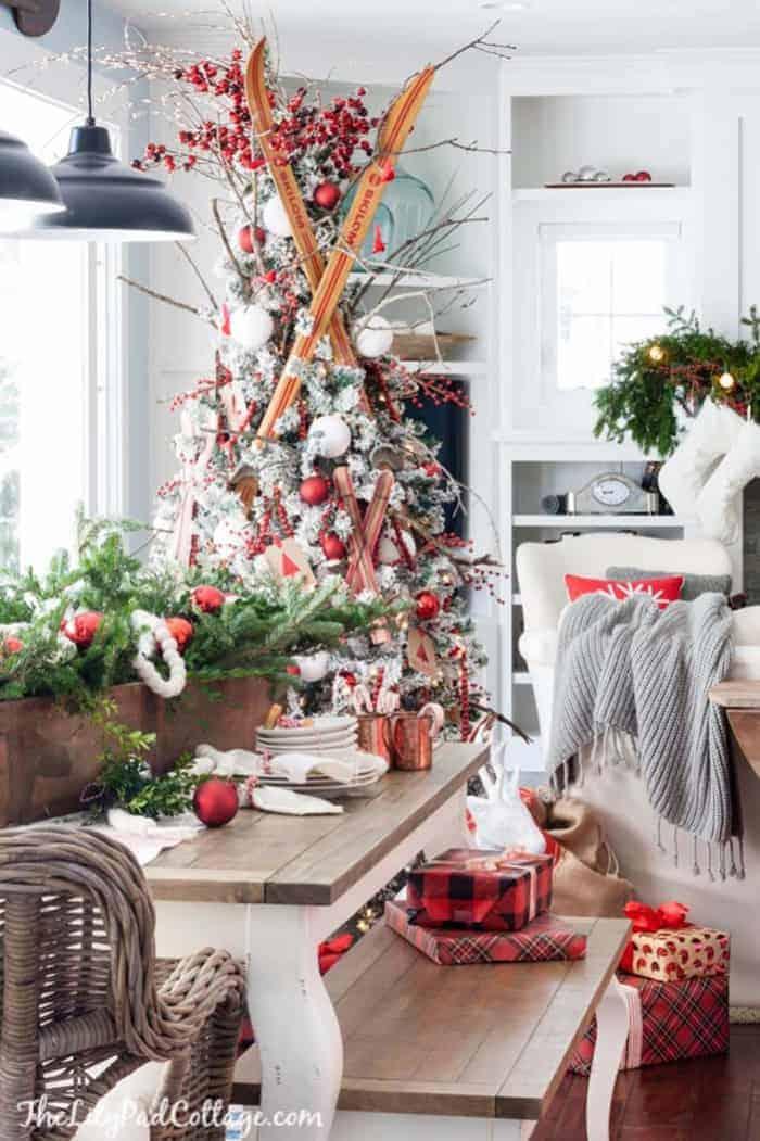 Ski Lodge Christmas Tree   The Lily Pad Cottage