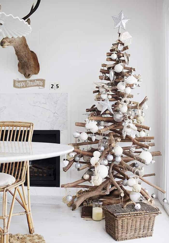 Rustic Stacked Branch Christmas Tree   Kara Rosenlund