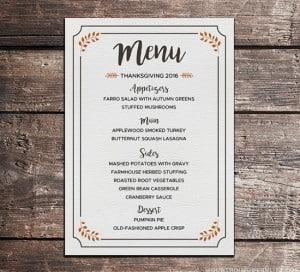 FREE Printable Thanksgiving Menu | MountainModernLife.com