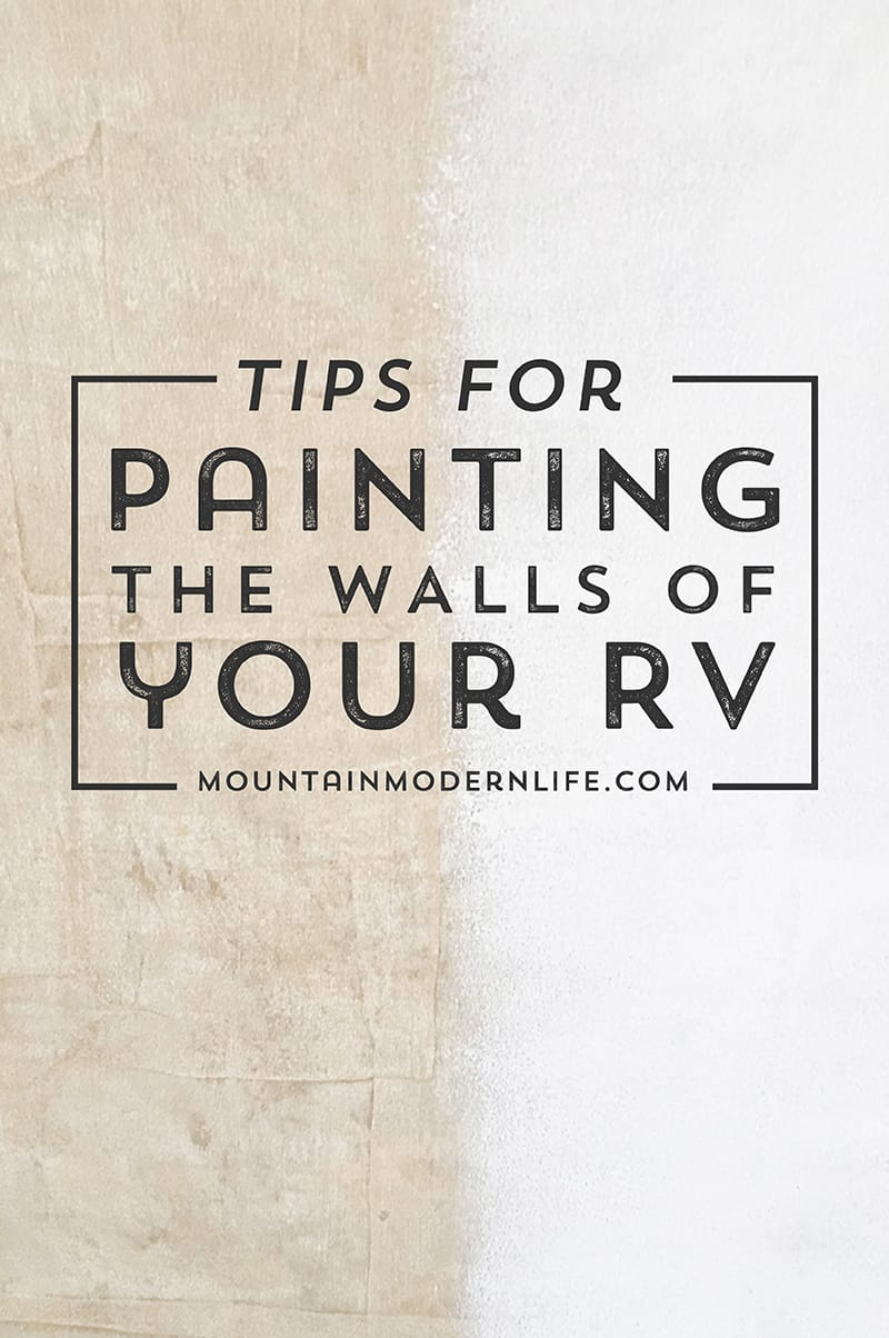 How to Paint the Walls of Your RV