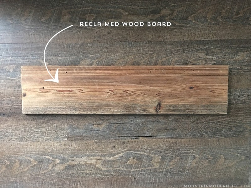 See how easy it is to create this mountain wall art using reclaimed wood.   MountainModernLife.com