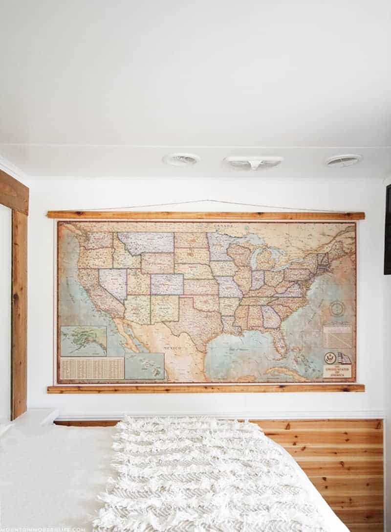 Vintage Style Push Pin Map in RV - 10 Favorite Posts of 2016 | MountainModernLife.com