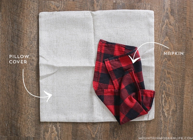 Love Buffalo Plaid? See how easy it is to make these Rustic Winter Pillows that you can keep around after the holidays! MountainModernLife.com