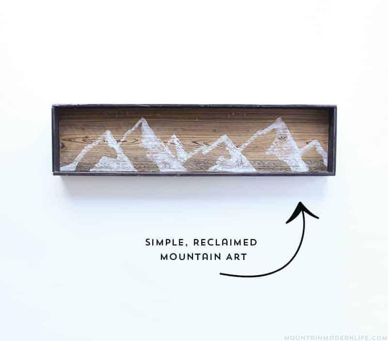 DIY Reclaimed Mountain Art - 10 Favorite Posts of 2016 | MountainModernLife.com