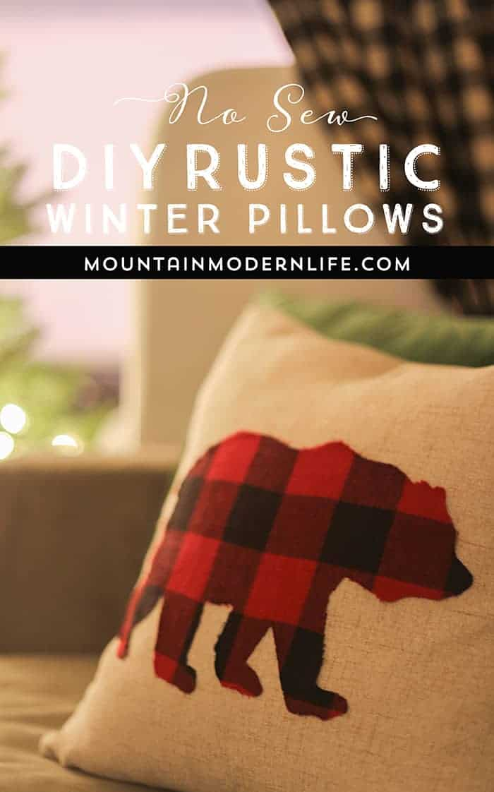 Rustic Winter Pillows you can Keep Around After the Holidays