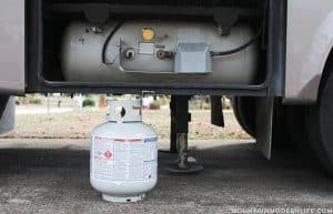smaller propane tank in rv during winter mountainmodernlife.com
