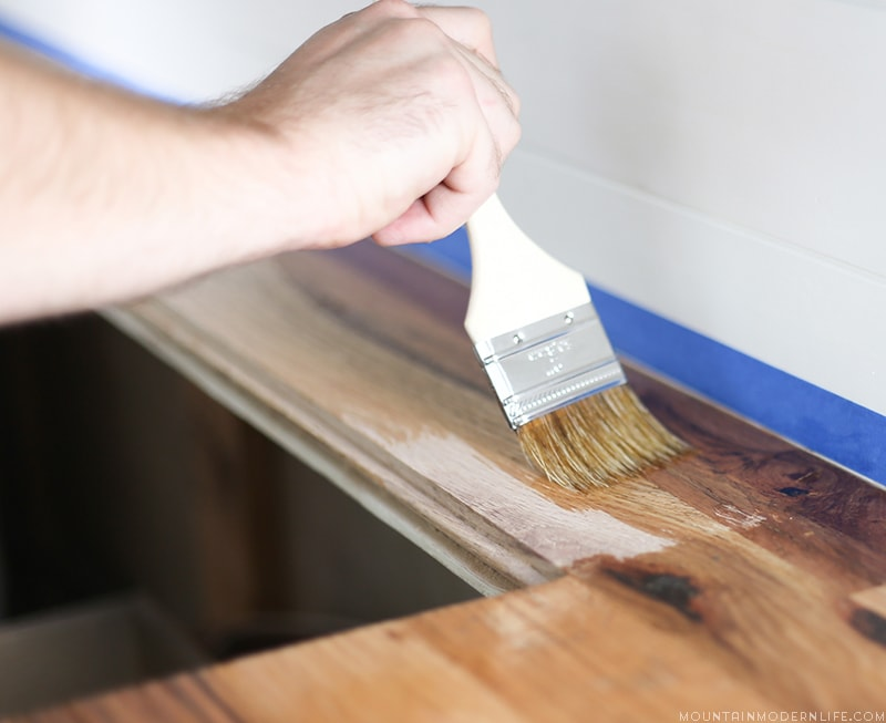DIY Wood Countertops in a RV | MountainModernLife.com