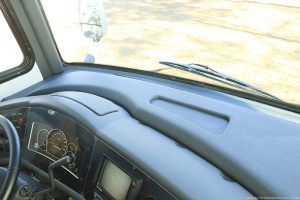 painted rv dashboard with peeling
