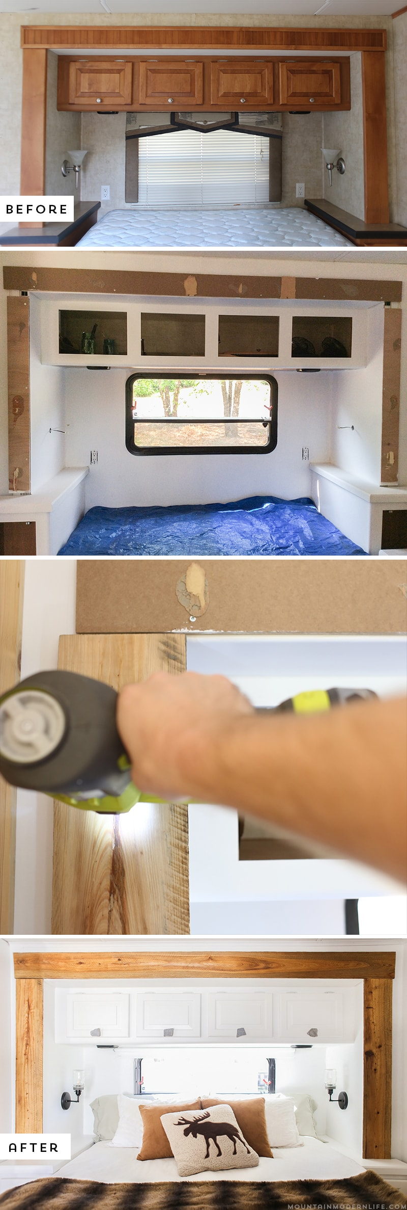 Looking for ways to add rustic character to your motorhome? Why not update the RV slide-out moulding? It's easier than you think! MountainModernLife.com