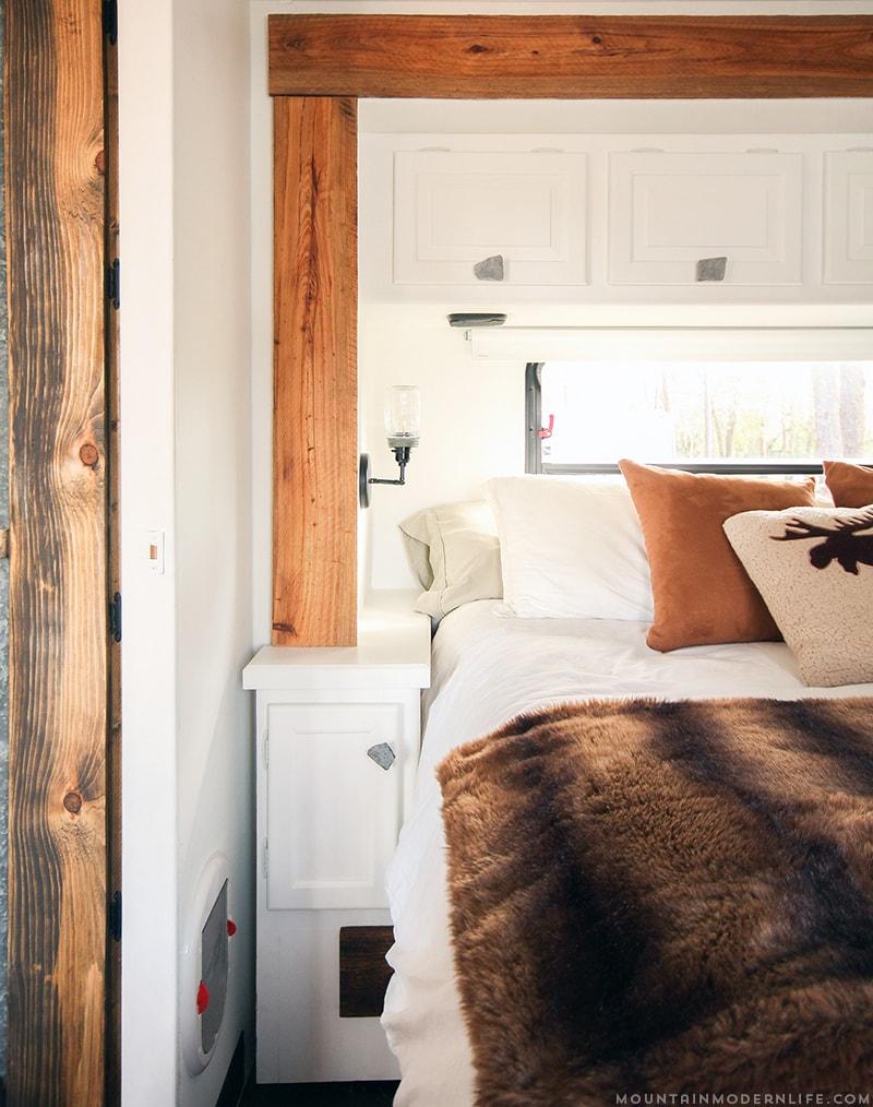 DIY Knobs in RV Bedroom | MountainModernLife.com
