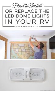 Updating LED Light Fixtures in RV | MountainModernLife.com
