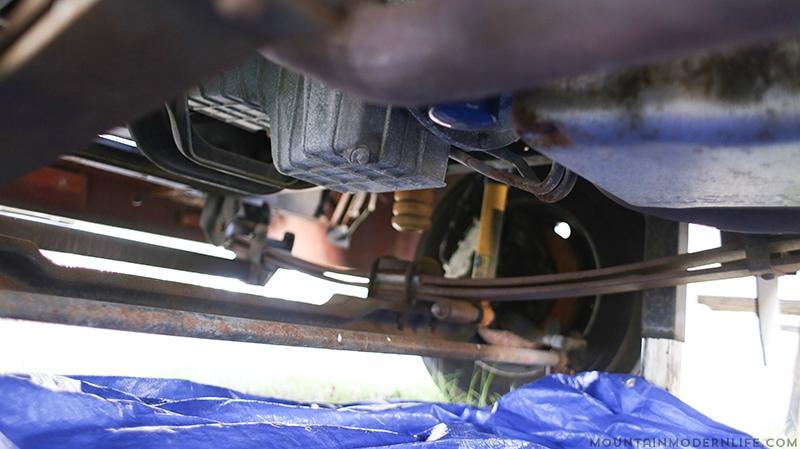 Removing RV drain plug
