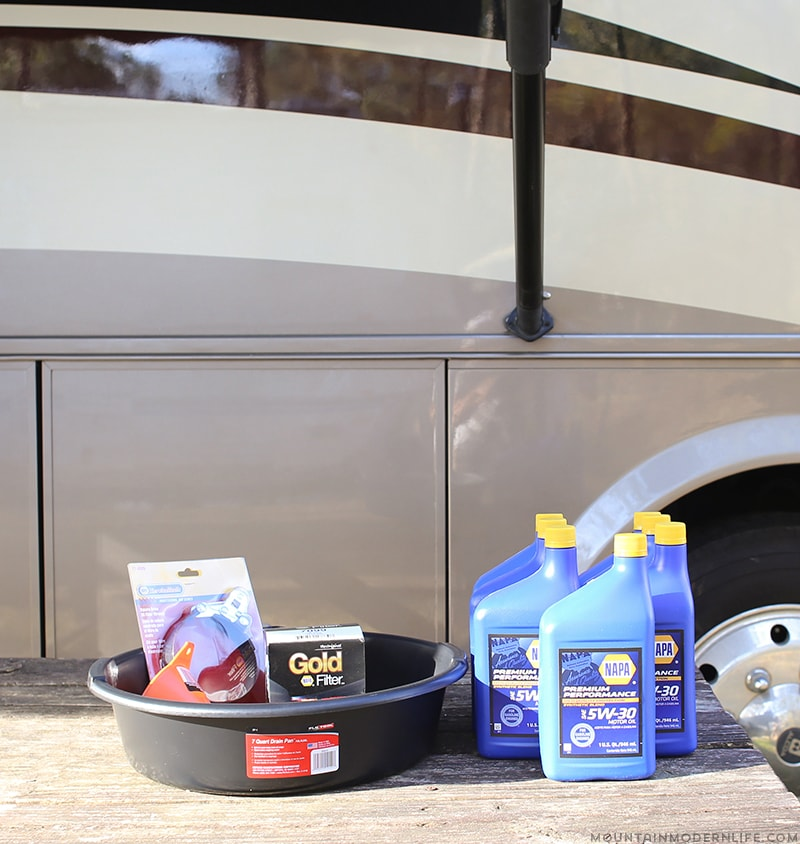 How to change the oil in a gas RV