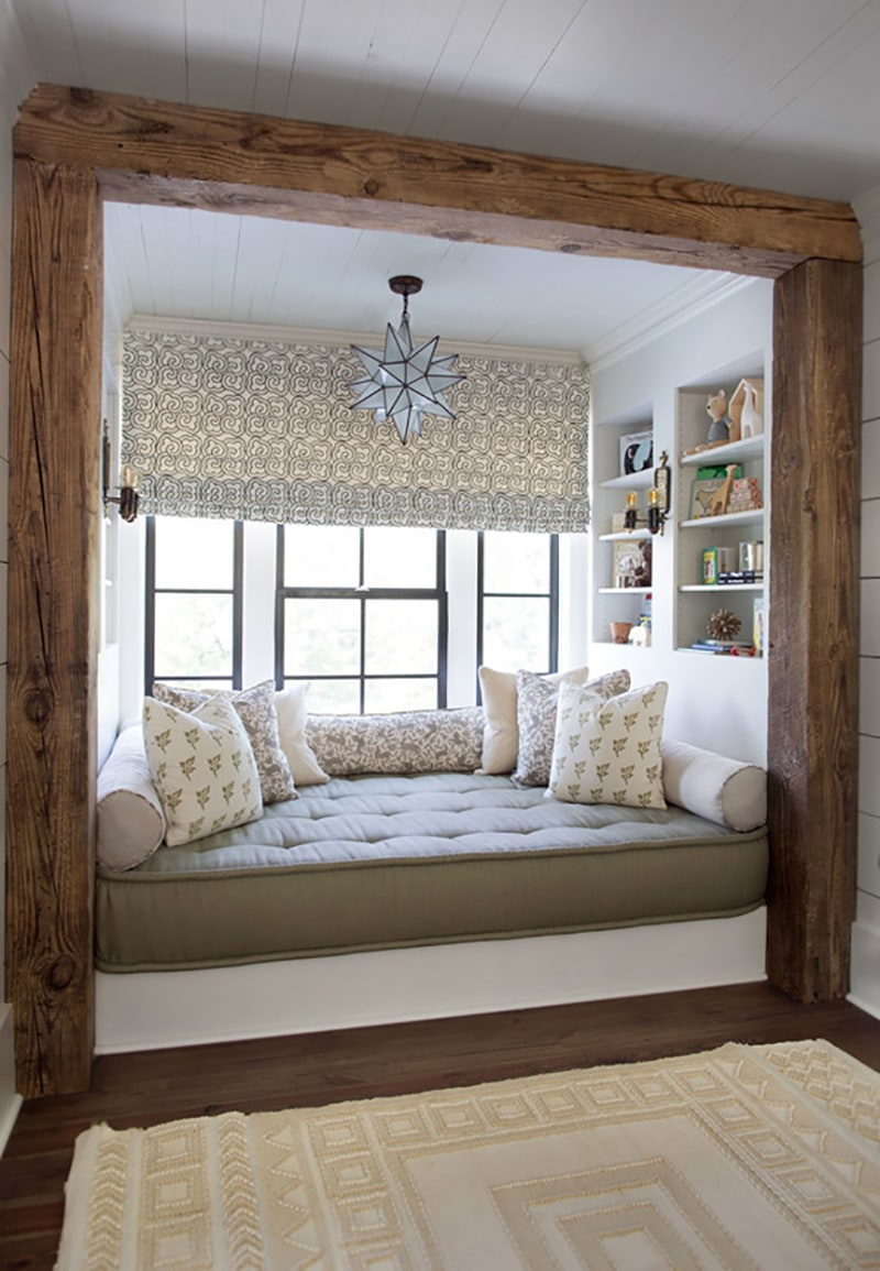 Rustic Framed Window Nook   Cloth and Kind