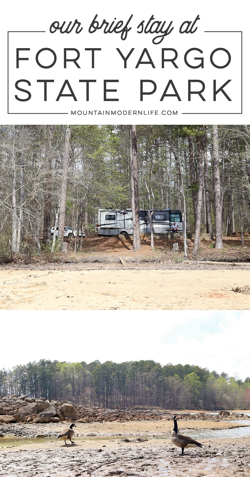 Looking for a RV campground to stay at while traveling through Georgia? Come check out our experience at Fort Yargo State Park. MountainModernLife.com