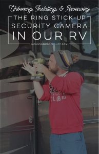 Looking for a RV Security Camera? Check out our Ring Stick-Up Cam Review!