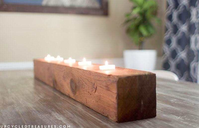 Rustic Tea Light Candle Holder   MountainModernLife.com