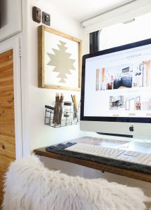 See how easy it is to make this simple rustic modern art, the perfect way to add Southwest or Navajo-inspired design to your home or RV! MountainModernLife.com