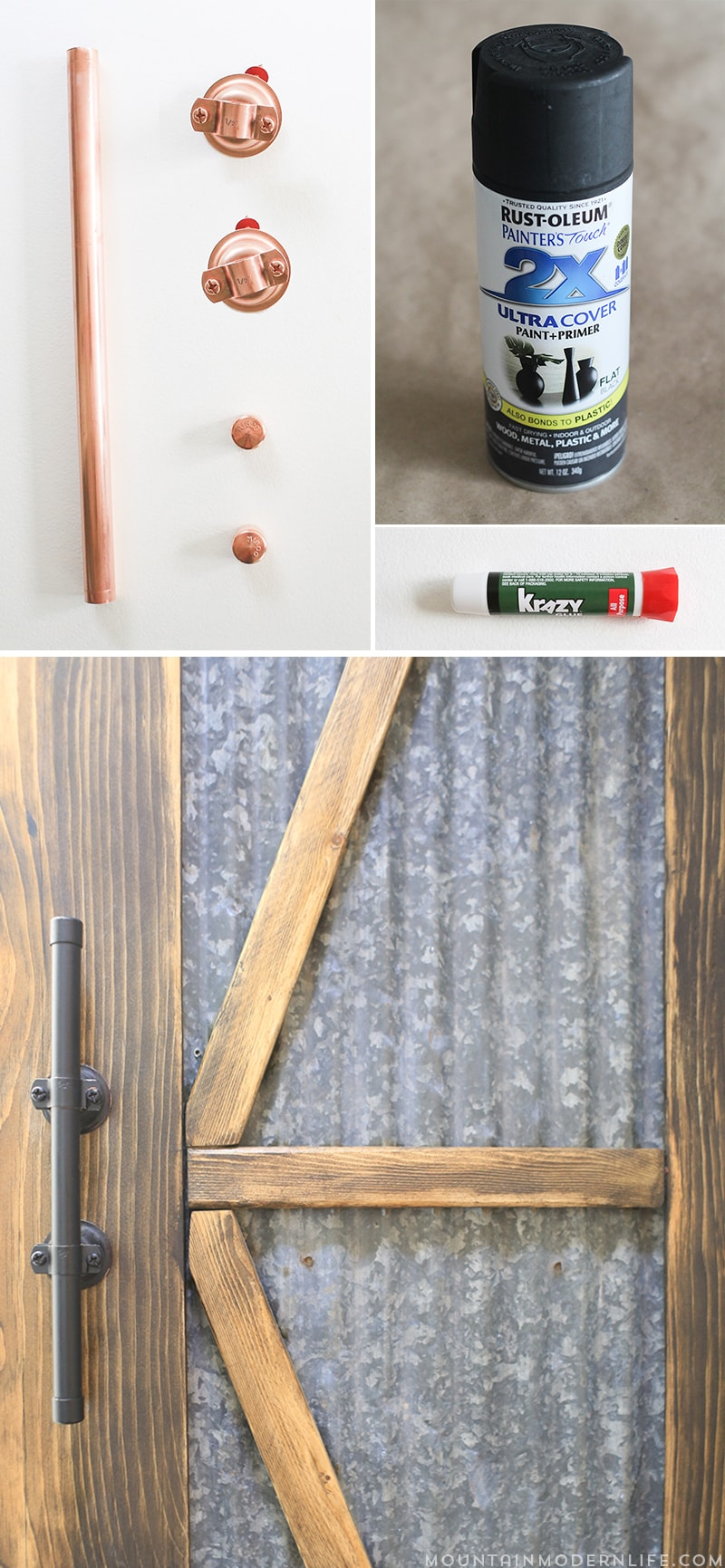 Looking for furniture hardware you can easily create and customize on a budget? Check out these Rustic Modern Cabinet Pulls! MountainModernLife.com