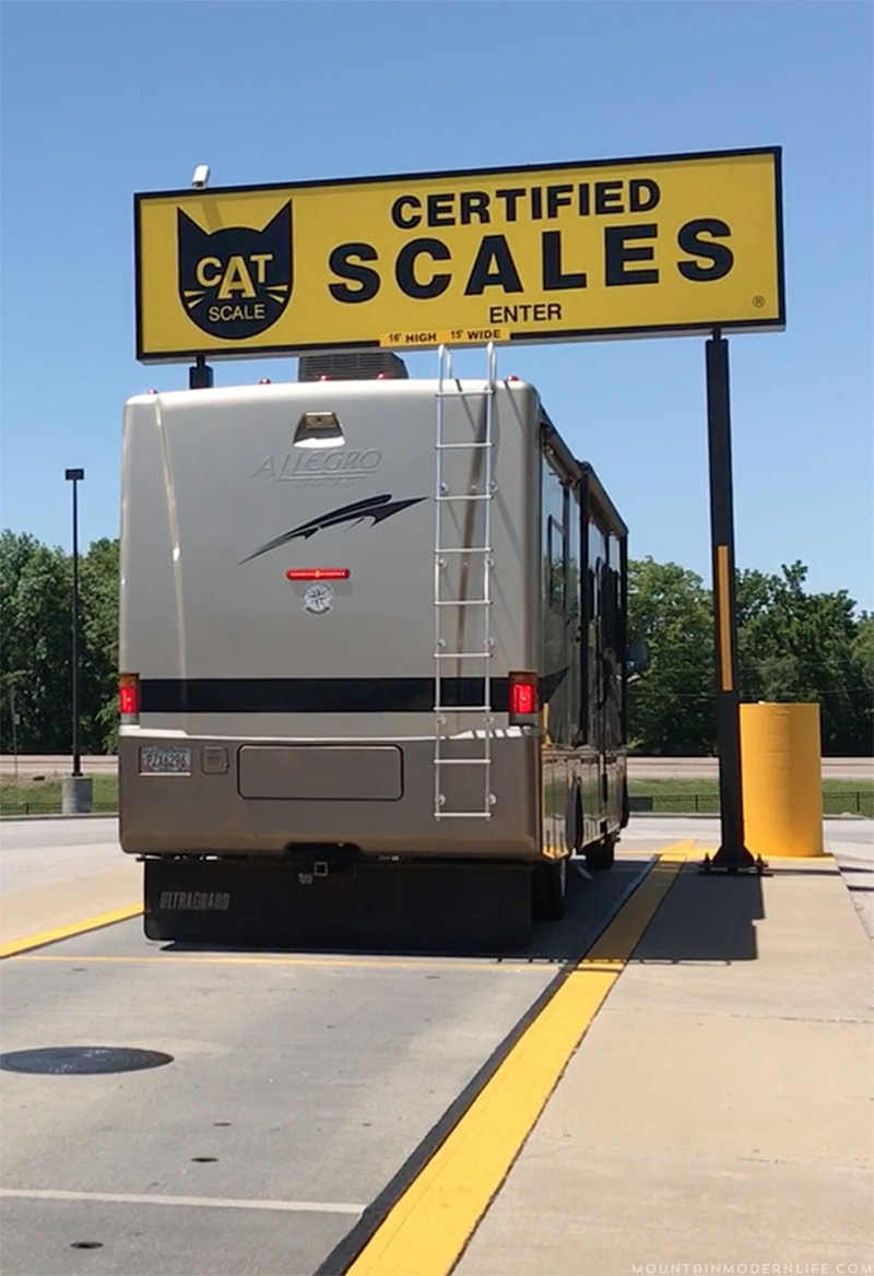 Did you know an overweight RV is one of the main causes for tire blowouts? Check out these RV Weigh Station Tips and Resources before you hit the road! MountainModernLife.com