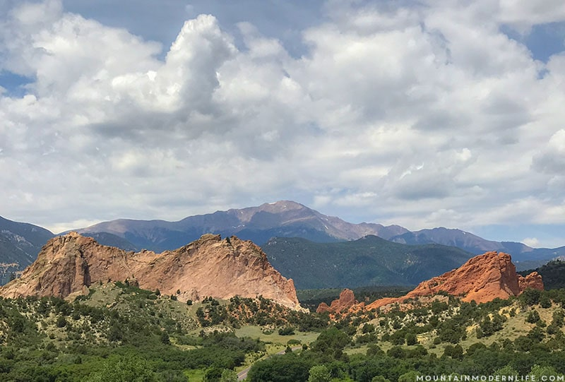 Looking for something free to do around Colorado Springs? Visit Garden of the Gods and see stunning rock formations set against spectacular mountain views! MountainModernLife.com
