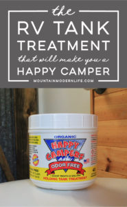 The RV Tank Treatment that will Make you a Happy Camper - this is one product we recommend every RV'er have on hand! MountainModernLife.com