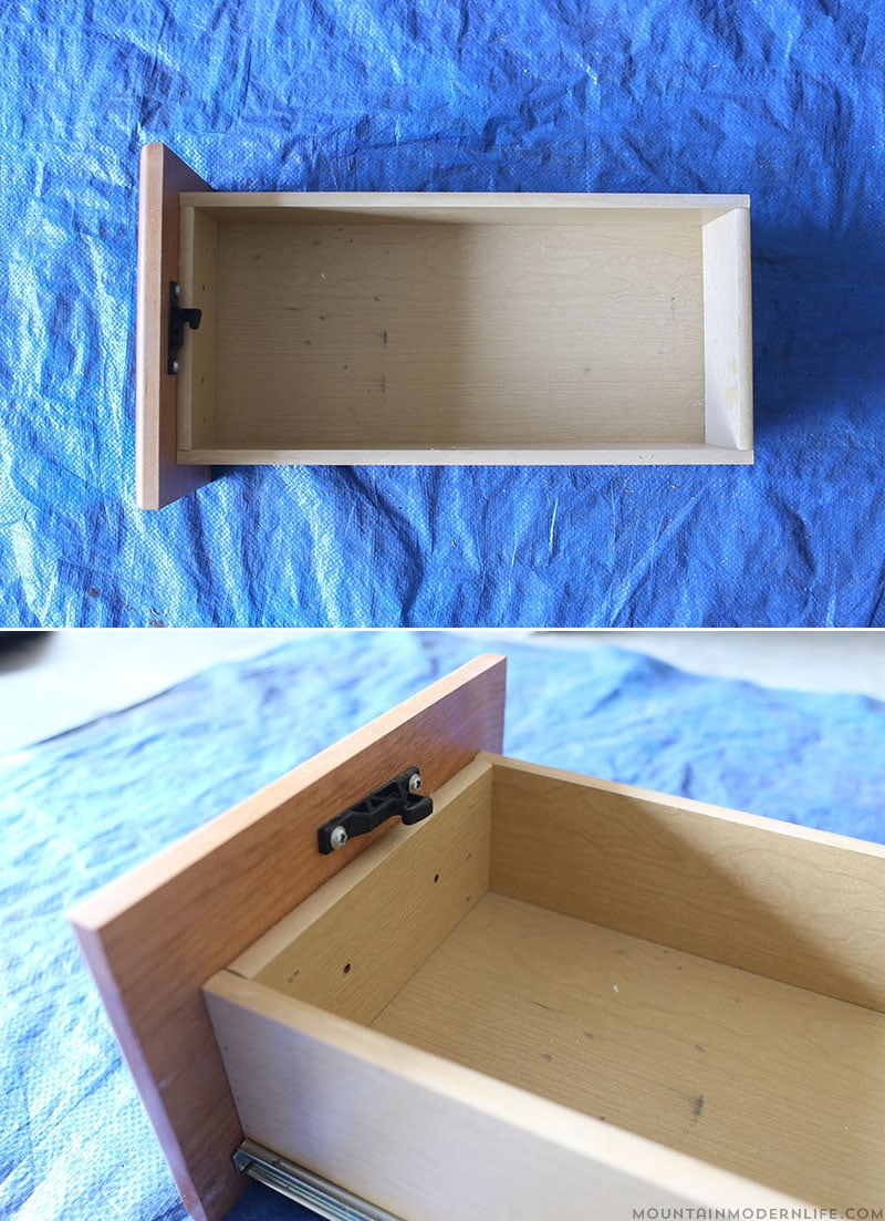 Don't be afraid to reimagine what you already have! See how easy it is to create these reclaimed, rustic drawers! MountainModernLife.com