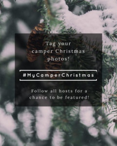 Tag your Camper Christmas photos with #MyCamperChristmas to inspire others to decorate their tiny homes for the holidays! Plus come link up to your own camper holidays posts, videos, and tours! MountainModernLife.com