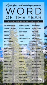 Resolutions not working for you? Ditch that system and try this instead! 5 Steps to Choosing your 2018 Word of the Year   MountainModernLife.com