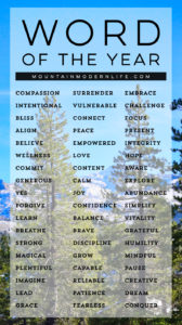 Resolutions not working for you? Ditch that system and try this instead! 5 Steps to Choosing your 2018 Word of the Year | MountainModernLife.com
