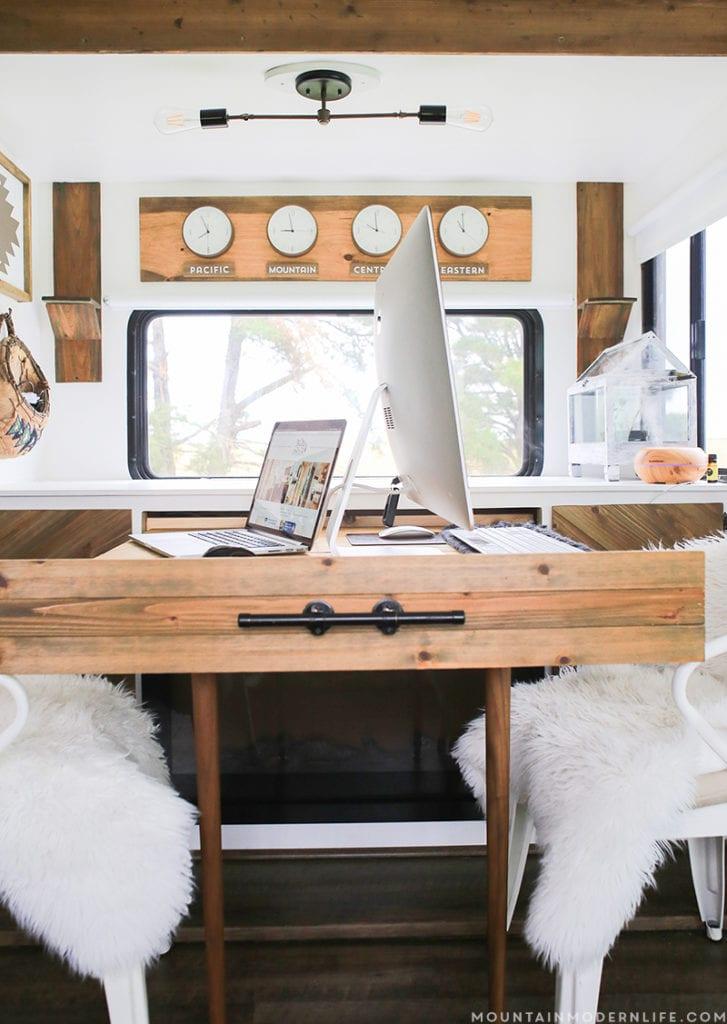 Slide-out Desk in RV