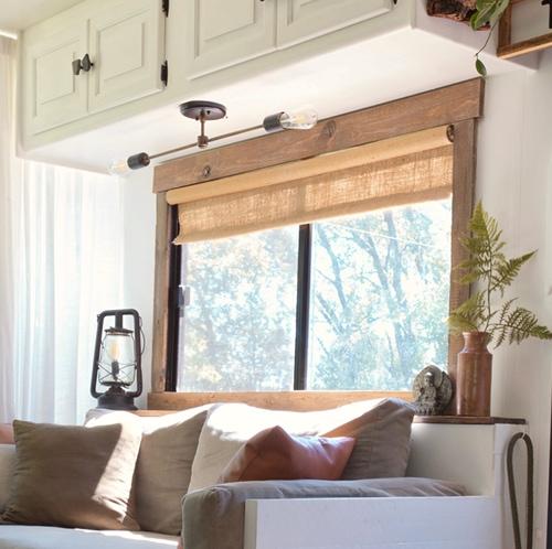 wood around RV windows