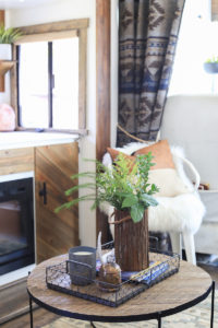 Curtains behind Captain's Chairs in RV | MountainModernLife.com