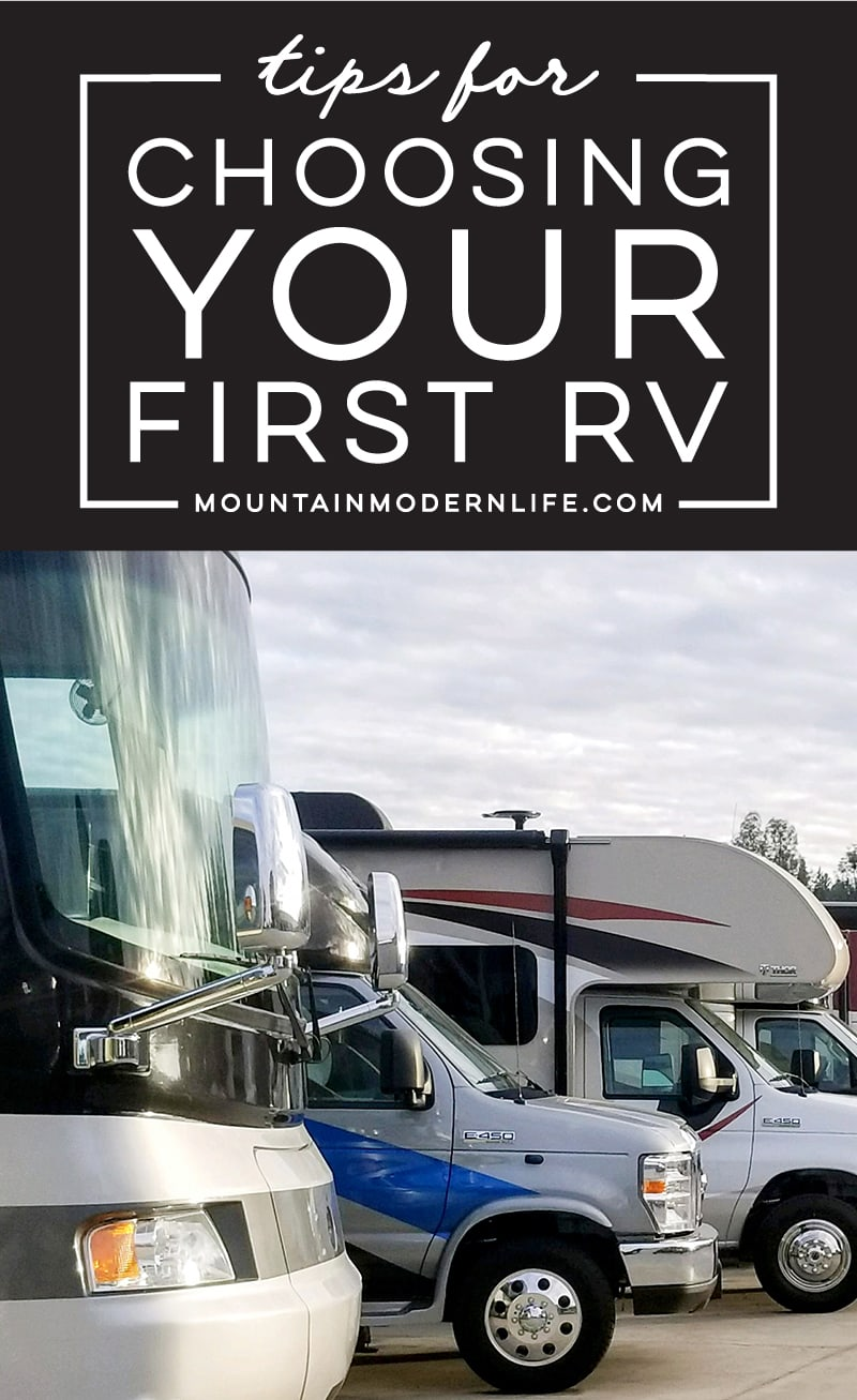 Tips for Choosing Your First RV
