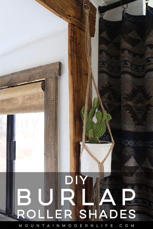 How to Make Burlap Roller Shades