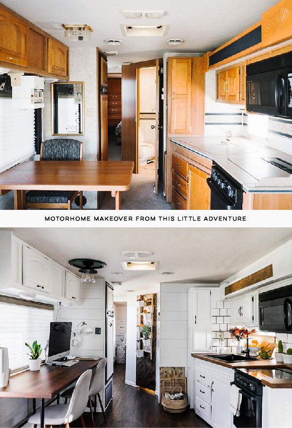 RV Renovation before and after photo