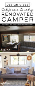 Tour this Amazing Travel Trailer Renovation with Califorinia Country Vibes! Featuring Brittany from Kalifornia Kountry on Instagram! MountainModernLife.com