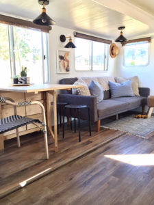 Tour this Modern Country Travel Trailer Renovation from Kalifornia Kountry of Instagram! Featured on MountainModernLife.com
