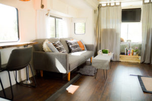 Tour this modern industrial RV Renovation from Us 3 + the RV! Featured on MountainModernLife.com