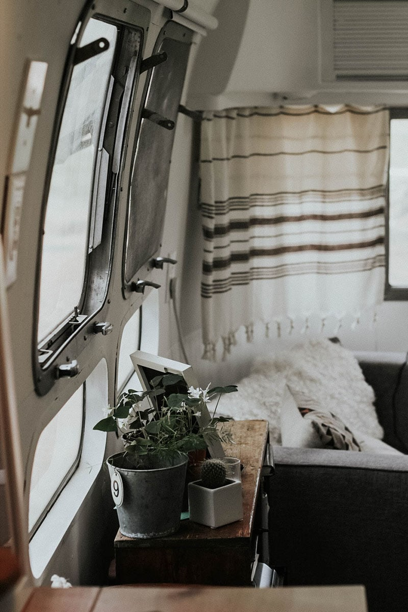 Tour this Modern Eclectic Airstream Renovation from Genuinely Ginger   Photo by Maddie Olling   Featured on MountainModernLife.com