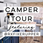 Camper Tour: See how @RVFixerUpper transforms drab 5th wheels into stylish tiny homes! MountainModernLife.com #rvrenovation #campertour