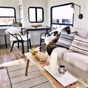 (Camper) Design Vibes: See how RVFixerUpper transforms drab campers into stylish tiny homes! MountainModernLife.com