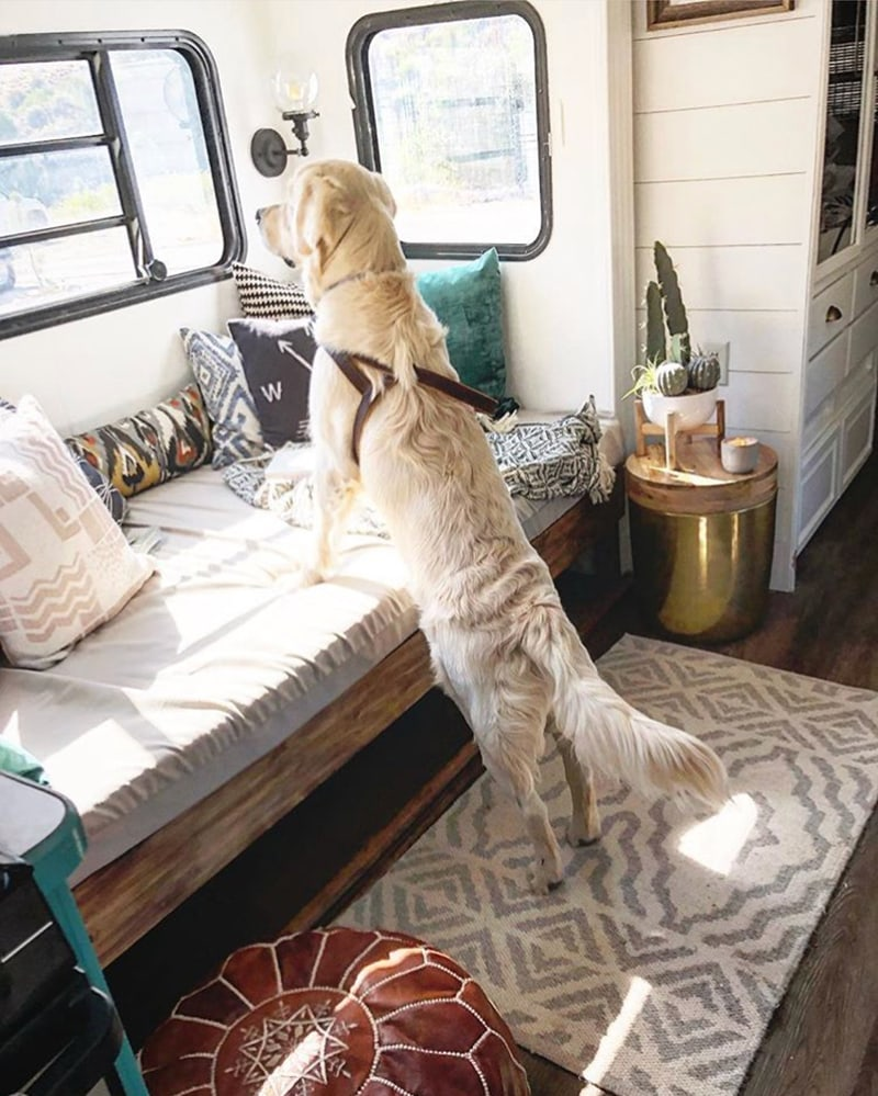 Design Vibes: You're going to love this modern and eclectic camper tour from Our Tiny Abode!
