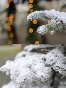 How to flock a Christmas tree with realistic results! See how easy it is to transform a real or artificial tree into a winter wonderland! MountainModernLife.com