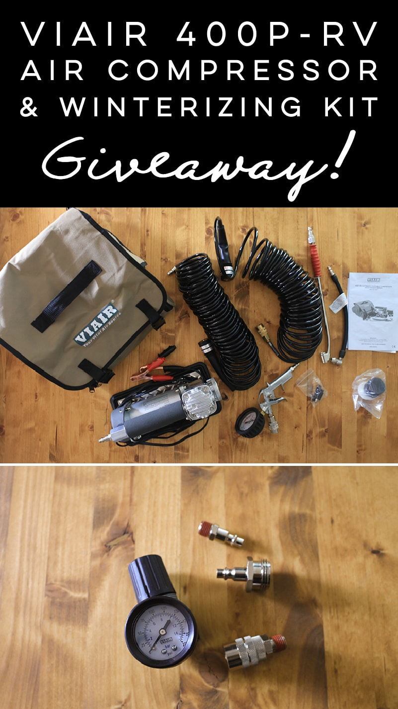 Viair Review + Giveaway! Enter to win the 400P-RV Portable Air Compressor and Winterizing Kit, the perfect gift for RV'ers! MountainModernLife.com