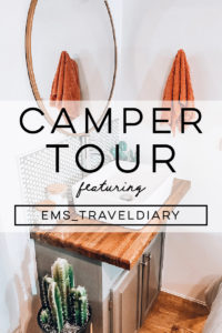 Tour this renovated camper that was transformed by a couple with a passion for international travel! // Photos by ems_traveldiary // Featured on MountainModernLife.com #camperrenovation #rvreno #designvibes