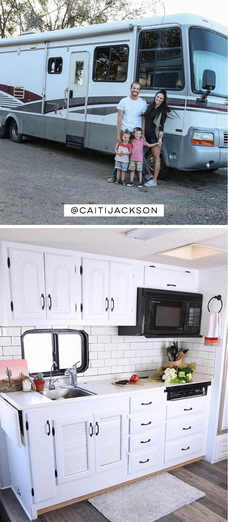 Tour this RV renovated for a family of 4 from @CaitiJackson! #rvreno #rvlife #camperremodel