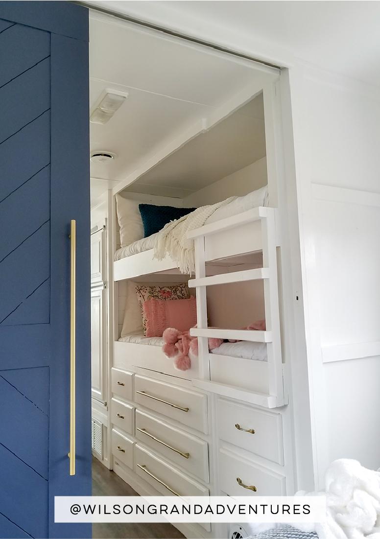 remodeled motorhome bunkhouse